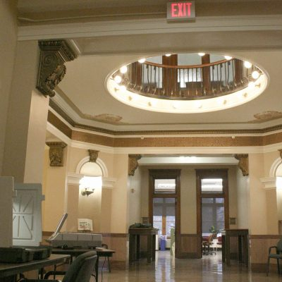 Figure 1 View of the central space of the courthouse