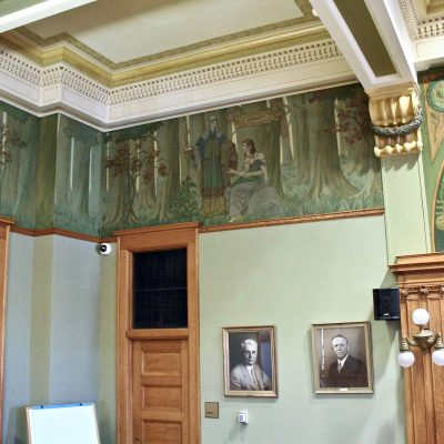Figure 10 South-west corner of the Courtroom after restoration