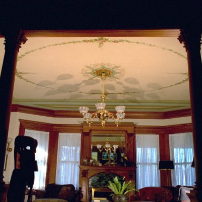 Figure 10 View of the ceiling in the Dining Room after restoration jpg