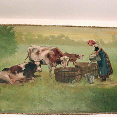 Figure 12 Commissioners Room; farm scene mural