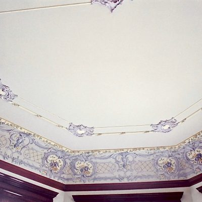 Figure 15 View of the ceiling in the Glass Room after restoration