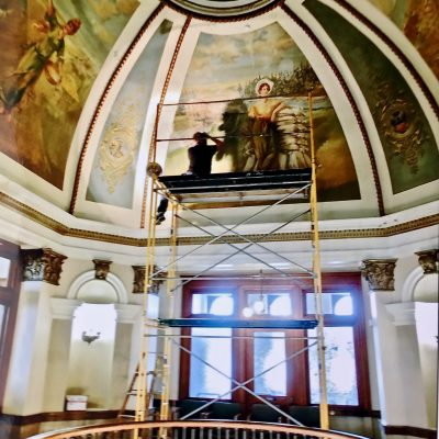 Figure 2 Dome murals during investigation