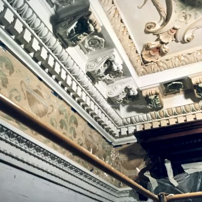 Figure 4 Grand Staircase ceiling during restoration