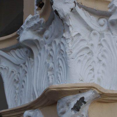 Figure 7. Broken plaster elements and innapropriate repairs - detail