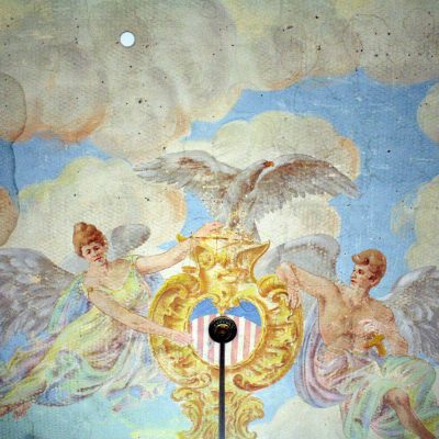 Figure 8 Ceiling mural in the Courtroom - detail
