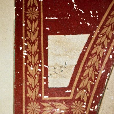 Figure 8 Uncovering the floral and geometric design in the Grand Staircase