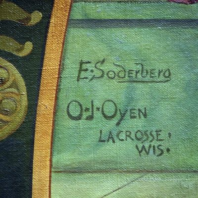 Figure 9 Artist's signature on the Main mural in the Courtroom