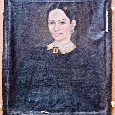 Figure 1 Portrait of a Young Woman - before restoration