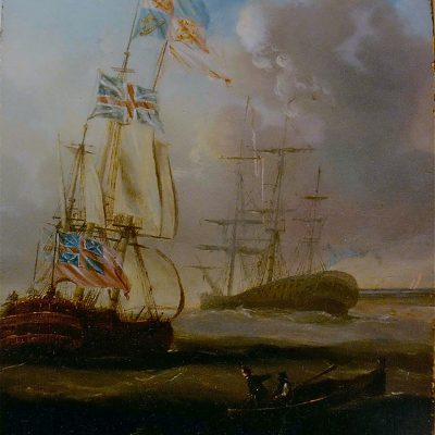 Figure 1 Sailing Ships at High Sea before restoration
