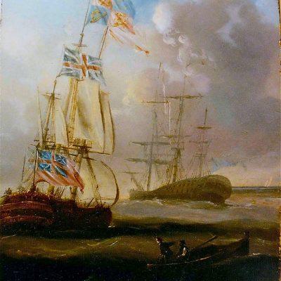 Figure 4 Sailing Ships at Hihg Sea after restorationb