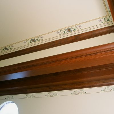 Figure 4 Stenciled designs on the upper part of the wall and ceiling - detail