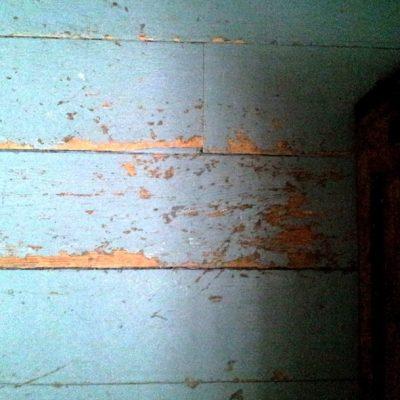 Figure 7 View of the overpainted wood floor